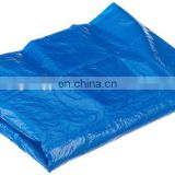 100gsm most popular waterproof orange/blue color pe tarpaulin in summer rainy season with UV resistance long usage life