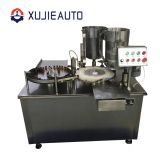 automatic glass vial bottle oral liquid filling plugging and sealing machine
