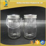 430ml Clear Glass Candle Holder with Iron Wire