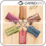 hot sell handmade genuine leather key holder, practical leather smart key holder, car key case
