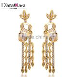 DianaCava Unique Design Photo 18K Gold Plated Jewelry Butterfly Shape CZ Earrings