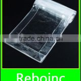 high transparent PVC bag with fastener for garment accessories