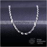 hot selling simple design fashion jewelry rhodium plated cheap short cable chain necklace