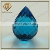 8*10mm teardrop shape machine cut checkerboard glass gems