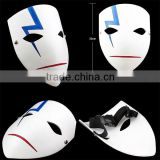 Promotion bottom wholesale price Movie theme Darker than BLACK mask for Halloween cosplay resin Japanese Anime Cosplay Mask