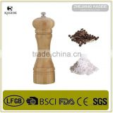 Hot sale manual bamboo salt and pepper mill/bamboo pepper mill