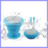 Outdoor Mini Shockprrof Waterproof Speakers Flexable Bluetooth Bathe Mushroom Cloud Speaker With Kaychain