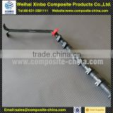 High quality carbon fiber window cleaning telescopic pole locking machanisms with brush and hose