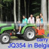 35HP 4wd tractor with front loader 4in1 bucket and backhoe,4cylinders,8F+2R shift,with Cabin,heater,fan,fork,blade