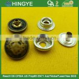 Anti-brass color zinc alloy cap press studs fastener snap button -- MA6133