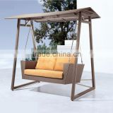 Patio Furniutre Double 2 Seater Outdoor Indoor Rattan Swing Chair (DH-9743)                                                                         Quality Choice