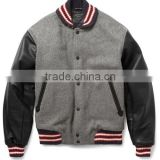 Custom leather sleeve varsity jacket,custom bomber leather sleeves varsity jacket,custom leather sleeves baseball varsity jacket