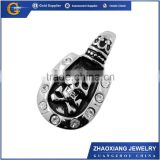 Jewelry wholsale handmade animal carvings skull pendants with crystal in stock