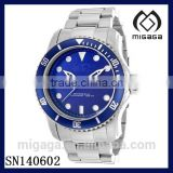 New Mens Big Pro Diver Date Classic 316L Steel Watch - Ocean Blue Dial Stainless steel watch