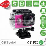 WIFI Mini HD Sport DV Helmet Bicycle Car Video Camera 30Meter Underwater hd mini sport dv 1080p manual