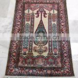 Wholesale beautiful hand knotted rugs handmade pure silk carpet from Jaipur India persian design