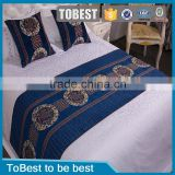 Embroidered hotel linen 100% cotton jacquard bedding set bed sheets /bed cover