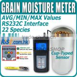 Digital LCD Grain Moisture Seed Rice Wheat Tester Cup Sensor 50% LED Indicator