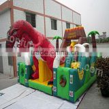 Commercial Exciting 0.55mm PVC Tarpaulin Inflatable Dinosaur Bouncer For Kids and Adults