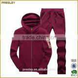 High Quality Cotton Fleece Men's Sweat track Suits and Pants, Wholesale sweat hoodie jacket