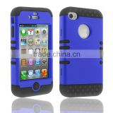 Stylish PC silicone microphone combo cover for iPhone 4 4S