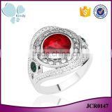 One dollar shop fashion jewelry crystal rhinestone zin alloy ring for girls