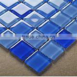 Sea Blue crystal Glass mosaic tile with good quality