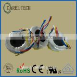 CE ROHS approoved 35VA 2*15V miniature 50/60Hz power transformer, low profile toroid, low profile ring core transformer