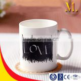MLB-1640 Creative Novelty Love Design Hot-Cold Color Changing Mug customized magic heat sensitive Coffee cup