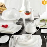 unique design tableware sets plates/dishes/bowls/tea pot white color ceramic bone china dinner sets