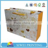 Customized cheap paper gift bag&paper bag printing&craft paper bag with your logo(Factory sale price)