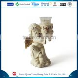 Angel polyresin religious candle holder