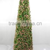 factory direct sale theme park decoration artificial boxwood cone plastic topiary cone topiary tree for decor