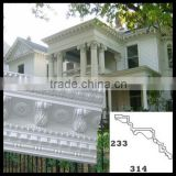 Easy installation painted grade polyurethane cornice Mouldings villa architectural design