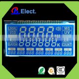 transparent negative character flexible white symbol segement character money-counting machine COG lcd display,counter display