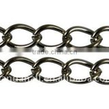 Black Iron Twist Curb Chain for Jewelry Making, Lead Free & Nickel Free