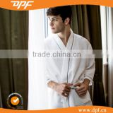 China Fabric textile shawl collar waffle dobby gentleman bathrobes