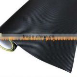 Best price great promotion 3D carbon fiber vinyl film with air drain matte black pvc film