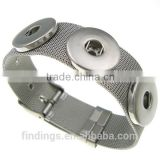 CJ3470 Wholesale stainless steel brand bracelet,bali click armband,snap button bracelet jewelry,snap charn bracelet