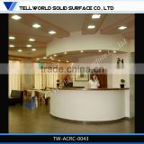 commercial modern beautiful luxury salon 100 acrylic solid surface reception desk service counter design