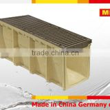 MEA 400 Polymer Concrete Channel with ductile iron grating ,precast concrete trench drain