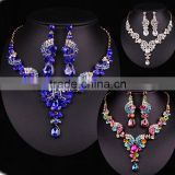 Lovely Freshwater Pearl and Crystal Wedding Jewelry Crystal Necklaces set Europe wedding jewelry set