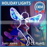 central park motif lighting 2d festival decoration artificial LED 2D sculpture fairy angel christmas