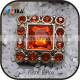 Hot Colorful Resin Decorative Crystal rhinestone buttons with square shape