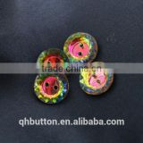 ACRYLIC PLASTIC COLORFUL CRYSTAL 2-HOLES BUTTON FOR WOMEN COAT