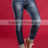 ladies latest design girls dresses garment factory indigo fashion skinny straight lady jeans, woman jean