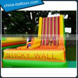 New product! Cheap and funny inflatable sticky wall acrobat game with suits