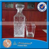 hot sale 800ml square bulk glass decanter wholesale