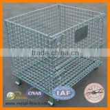 Hot sale!!! Zinc plating steel welded wire mesh pallet cage (factory supply)