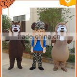2015 hot sale adult plush animal walking cartoon costume animal cosplay costume for advertising made in china